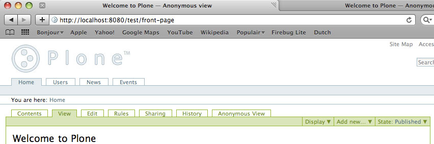 Anonymous View Authenticated