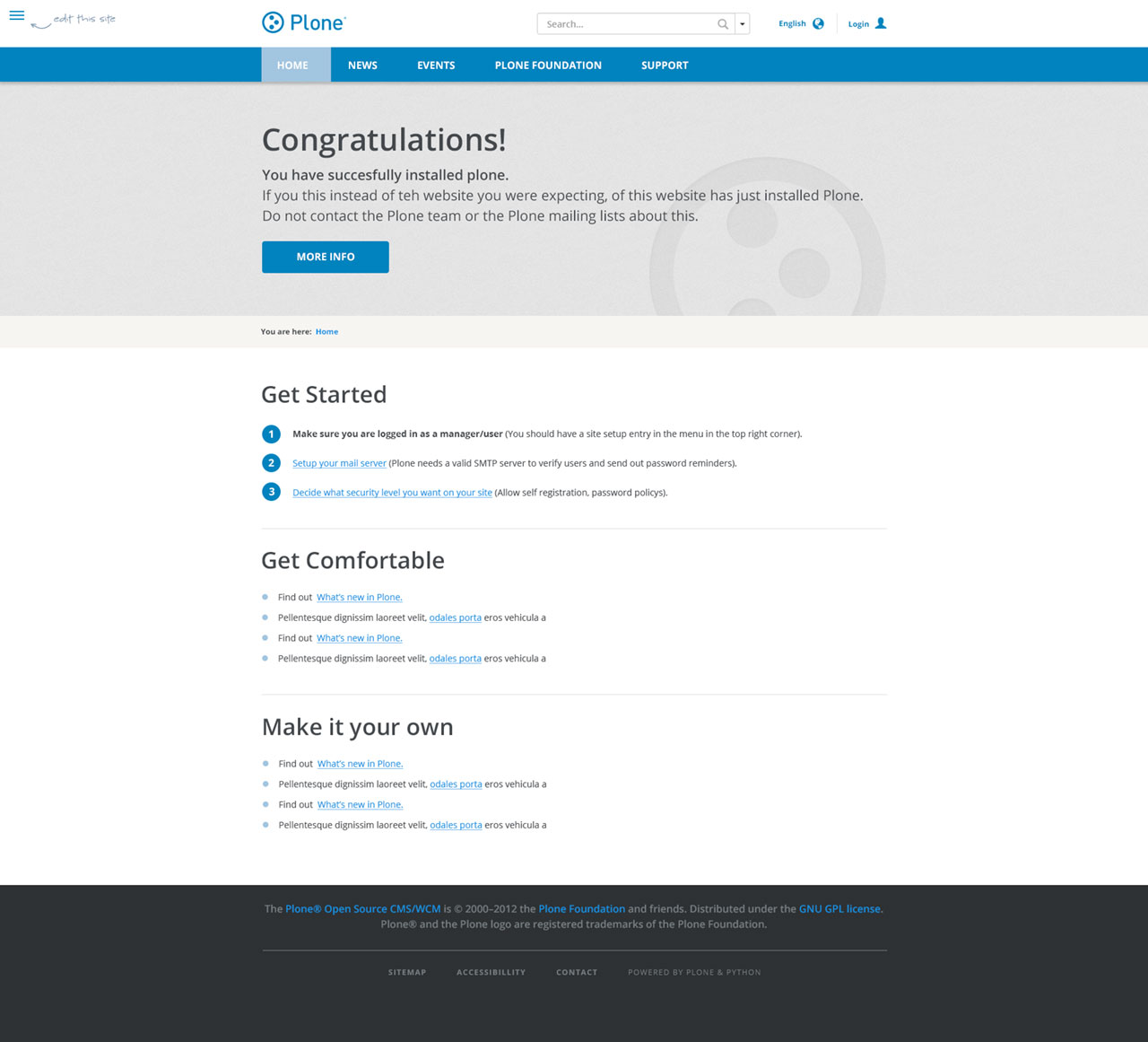 Plone 5 screenshot proposal