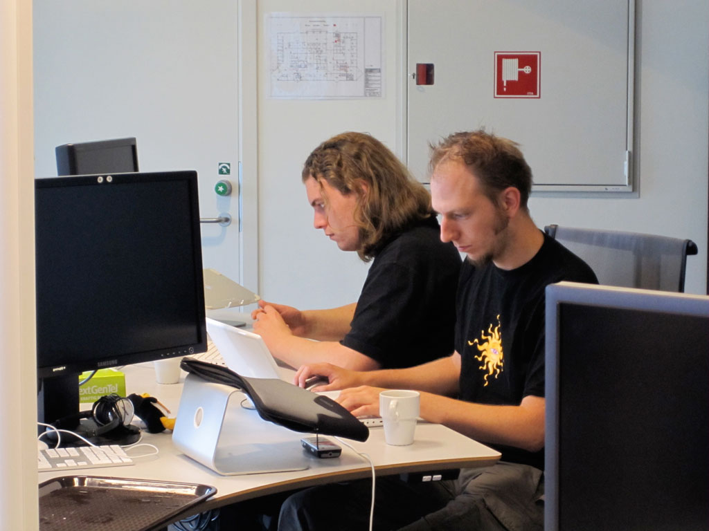 Ralph Roel working on backend