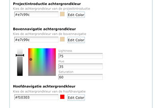 Select Colors Subsite Home Start
